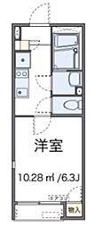 JR高崎線 北本駅 徒歩8分の賃貸アパート 1階1Kの間取り