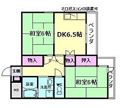 レジデンス冨仁[3階]の間取り