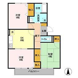 フレマリール鎌ヶ谷C[2階]の間取り