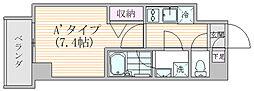 エスジーコート元浅草 5階1Kの間取り