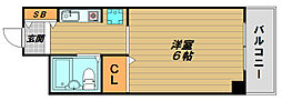 ロマネスク長田[2階]の間取り