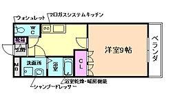 コンフォールS[1階]の間取り