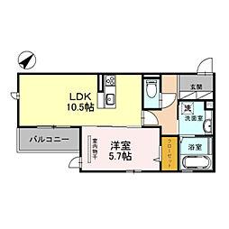 Osaka Metro御堂筋線 なかもず駅 徒歩4分の賃貸アパート 1階1LDKの間取り