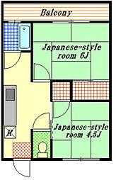 司荘[2階]の間取り