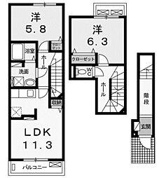 モンテカーサ[2階]の間取り
