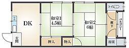 第10レジデンスオクノ藤が丘[2階]の間取り