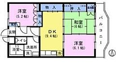 東京都練馬区早宮4丁目の賃貸マンションの間取り