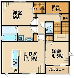 (仮称)矢崎町計画 2階2SLDKの間取り
