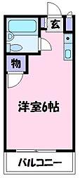 ユニコーン82'西野[2階]の間取り