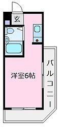 ロイヤルハイツ北野田[3階]の間取り