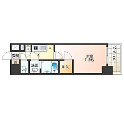 JR大阪環状線 西九条駅 徒歩9分の賃貸マンション 8階1Kの間取り