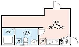 CORDEA小菅 3階ワンルームの間取り
