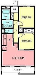 神奈川県横浜市青葉区千草台の賃貸マンションの間取り