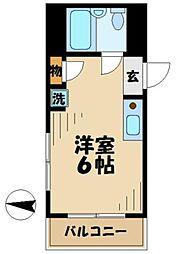 東京都八王子市大塚の賃貸マンションの間取り
