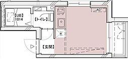 PROTO初台I 3階ワンルームの間取り