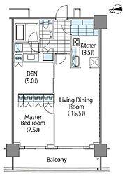 コンフォリア新宿イーストサイドタワー タワー棟 4階1SLDKの間取り