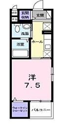 グレイスKIKKAWA[4階]の間取り