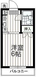 スカイハイム伊藤[2階]の間取り