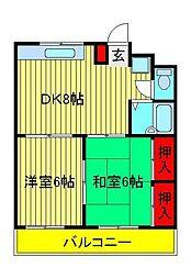 サンハイムKAZU[3階]の間取り