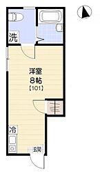 東京都世田谷区等々力4丁目の賃貸アパートの間取り