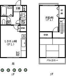 [テラスハウス] 神奈川県川崎市宮前区小台1丁目 の賃貸【/】の間取り