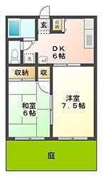 エトワール D[1階]の間取り