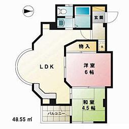 渡辺第7ビル[4階]の間取り