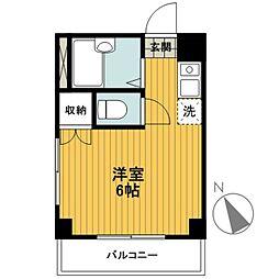 ブランニュー横浜[303号室]の間取り