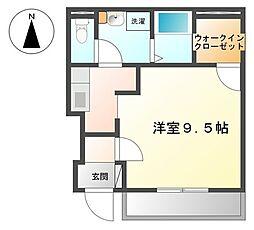 南海高野線 萩原天神駅 徒歩13分の賃貸アパート 1階1Kの間取り