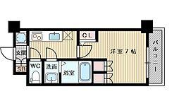 アルティザ淡路駅東 10階1Kの間取り