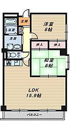 金岡パークヴィラ[3階]の間取り
