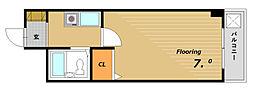 フローラル板宿[5階]の間取り