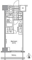 JR山手線 秋葉原駅 徒歩6分の賃貸マンション 3階ワンルームの間取り