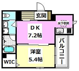(仮称)シャーメゾン香露園 1階1DKの間取り