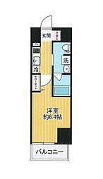 SHOKEN Residence横浜戸部 11階1Kの間取り