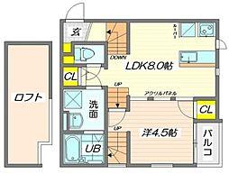 CB和白オーシャンリゾート[2階]の間取り