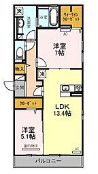 (仮称)D-room天美東[1階]の間取り