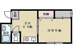 カンフォート淡路[3階]の間取り
