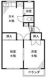 サンフラワーマンション[1階]の間取り