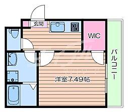 阪急京都本線 正雀駅 徒歩11分の賃貸アパート 1階1Kの間取り