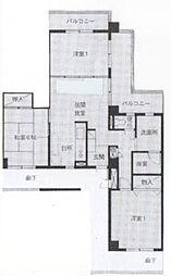 クイーンビラGOTO[3階]の間取り