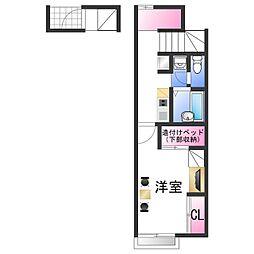 南海加太線 八幡前駅 徒歩20分の賃貸アパート 2階1Kの間取り