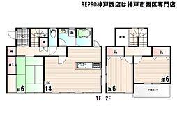 [一戸建] 兵庫県神戸市西区糀台3丁目 の賃貸【/】の間取り