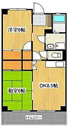 ホワイテージ山田[303号室]の間取り