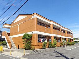 愛知県岡崎市北本郷町字河原の賃貸アパートの外観