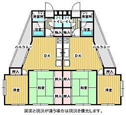 南片江コスモ[202号室]の間取り