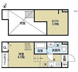 メゾン ヒカリ[1階]の間取り