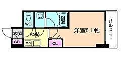 S-RESIDENCE南堀江[11階]の間取り