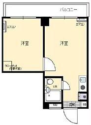 エトワール立川錦町 3階1Kの間取り