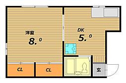 山下ハイツ[2階]の間取り